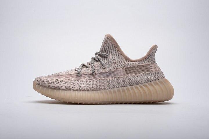 2019 nouvelle version argent-rose maille 350 V2 réflexion 3-rayure Hyperspace Kanye West hommes femmes chaussures de course sport baskets