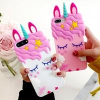 3D Cartoon Stern Uniocrn Telefon Fall Für Xiaomi Mi Redmi 3S 4x 4A 5A 6 Prp 6A 3X 5 plus hinweis 7 6X A2 5X A1 F1 Weiche Silikon Abdeckung
