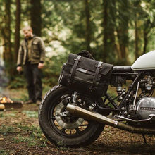 Bolso Retro para motocicleta, bolsa de herramientas de Bolsa lateral, impermeable, cruzado, para casco