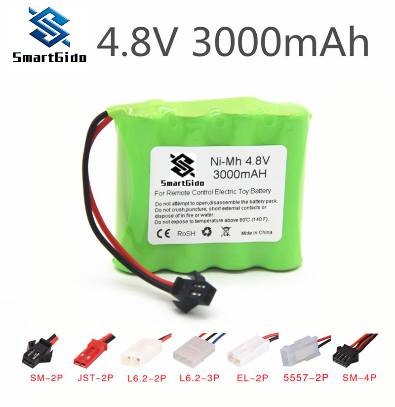 4.8v Rechargeable Battery For Tanks Robots 3000mah Ni-MH Battery Nimh Aa 4.8v Pack 3000mah Batteries For RC Cars 4.8v RC Boat