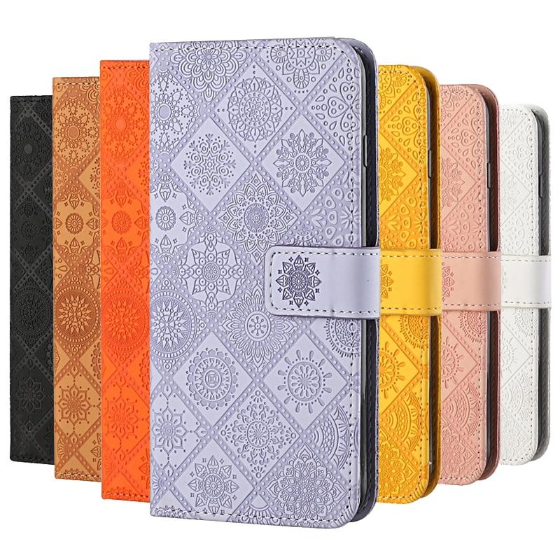 Кожаный чехол-бумажник для OPPO A15 A 15, чехол для OPPO A12 A 12 A11 A11K, флип-подставка, цветочный тисненый чехол для телефона OPPOA15, чехол