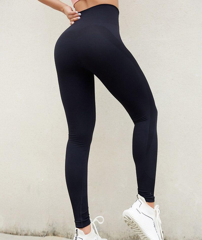 Super Elástico Ginásio Calças Justas Mulher Legging