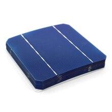 10/40/50/100 قطعة 2.8 واط 125*125 مللي متر أحادية الخلايا الشمسية أحادية السيليكون PV لتقوم بها بنفسك لوح شمسي جهدي ضوئي شحن البطارية