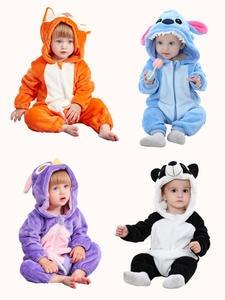 SLAIXIU Pajamas Costume Sleepwear Newborn-Blanket Panda Anime Girls Kids Cotton for Children