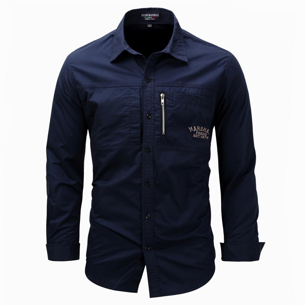 2020 New Men's Slim Fit Dress Shirts Men Men's Clothings Men's Shirts Men's Tops