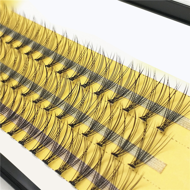 60 pieces 0.07 thickness hair C curl eyelash extension 8 10 12mm strip false eyelashes makeup individual lashes 2