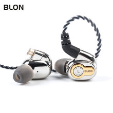 Blon BL-05 bl05 BL-03 bl03 10mm 2nd geração de nanotubo carbono diafragma cnt no ouvido fone alta fidelidade dj esporte fones