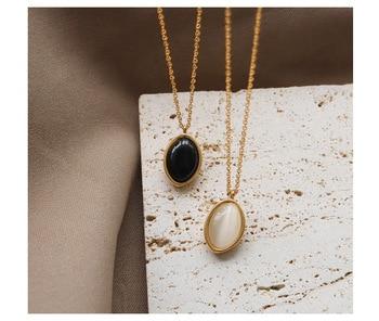18 K Gold Cat Eye Stone Necklaces Jewelry K-Gold Jewelry