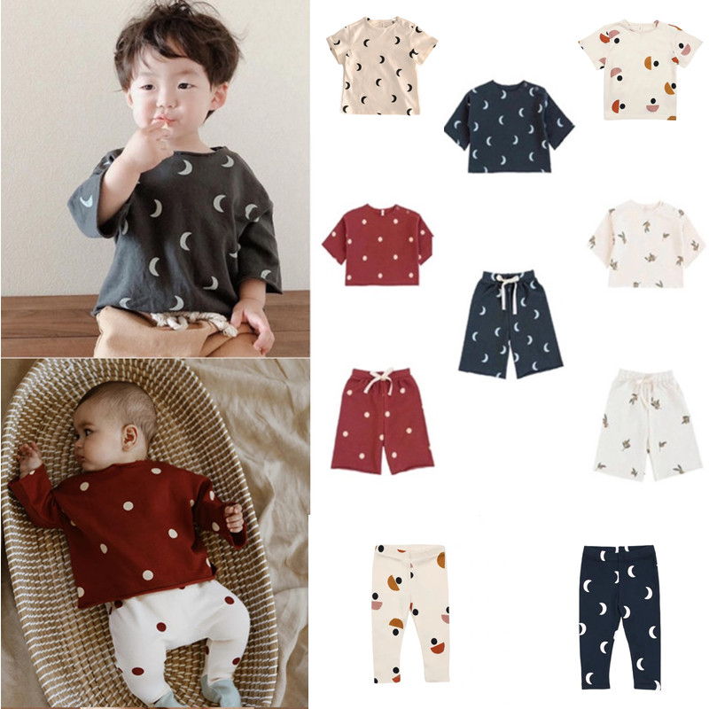 Kids T-shirts OZ Brand 2021 Spring Summer New Design Boys Girls Fashion Dot Print Pants Baby Child Cotton Cute Outfits Clothes 1