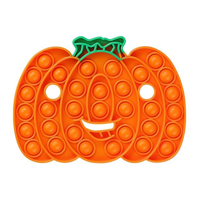 Halloween Gift Rainbow Pumpkin Food Fidget Toy Push Bubble Stress Sensory Toy 6