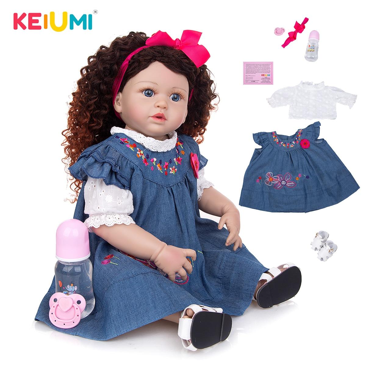 Boom pelo princesa silicona renacido Boneca muñecas del bebé 55CM realista recién nacido bebé niño juguete muñecas para regalos de cumpleaños