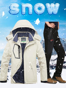 Ski-Suit Snowboarding-Jackets Winter Pants Skiing Waterproof Men for Warmth And