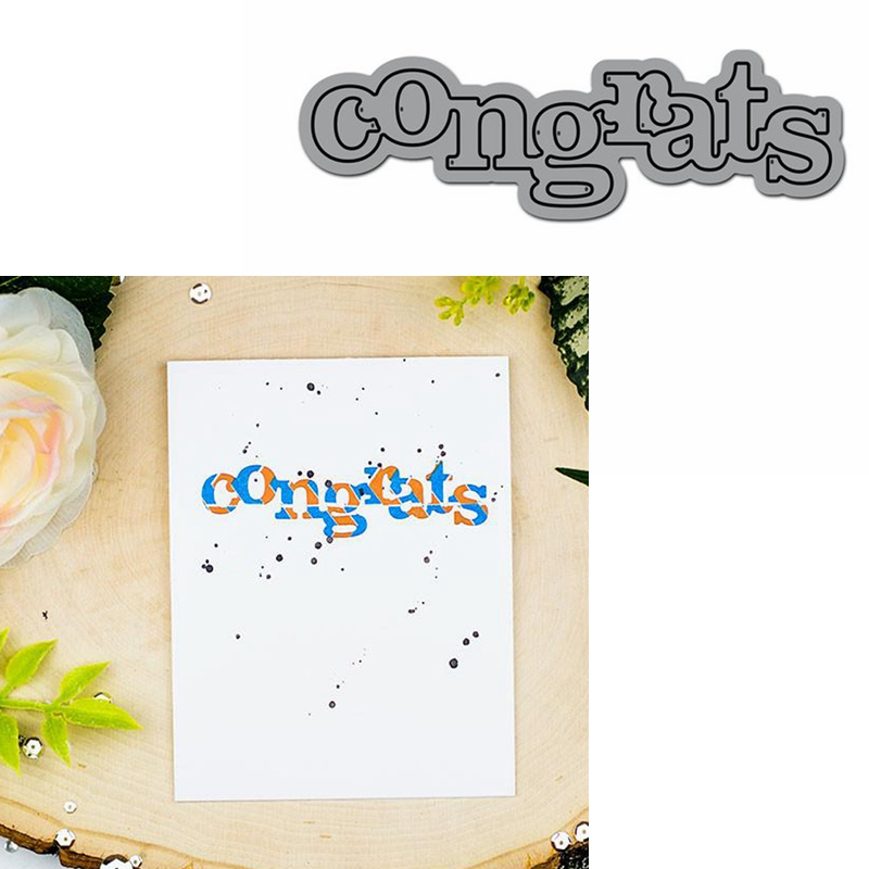Congrats Word Die Cuts For Card Making Congrats Word Dies Scrapbooking Metal Cutting Dies New 2019