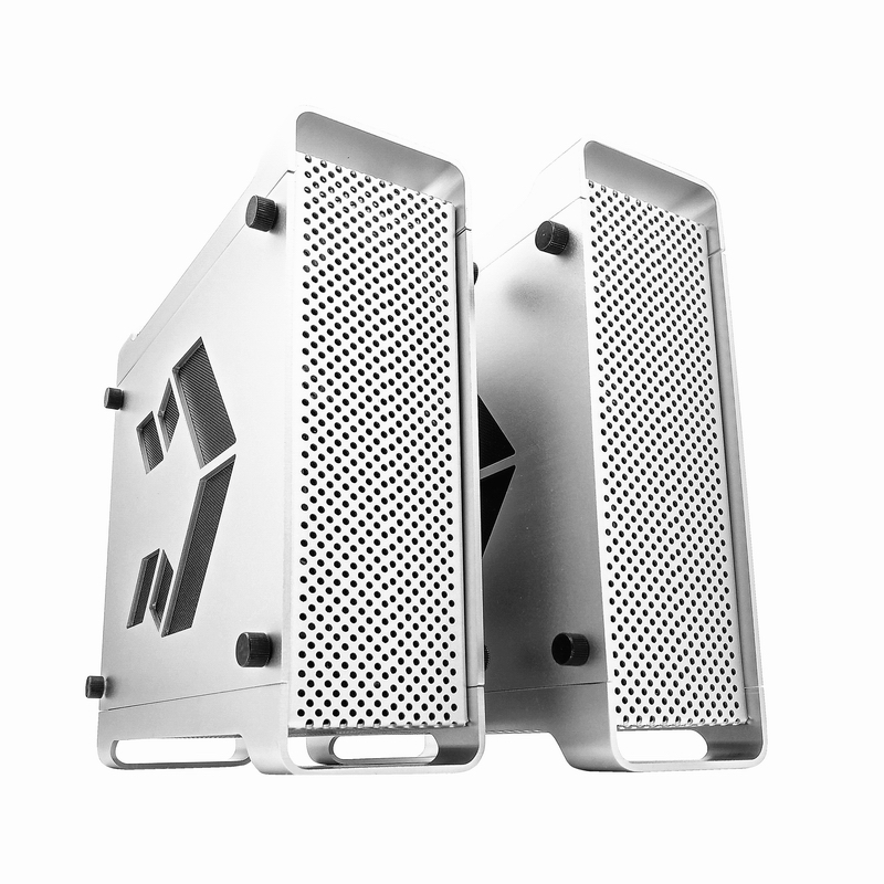 All Aluminum Mini ITX Chassis HTPC Living Room Computer Small Chassis Silver