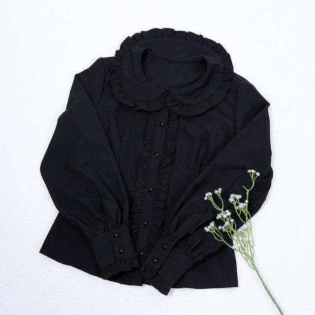 Купить японская студенческая повседневная рубашка в стиле лолиты винтажная картинки цена