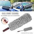 Cepillo de polvo para automóvil de microfibra con mango telescópico de toalla gratis para accesorios de coche limpio de 360 grados DTT88