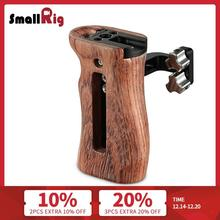 SmallRig Camera Video Handle Grip Stabilizer Universal Wooden Handle with Cold Shoe Mount and 1/4 3/8 Thread Holes 2093