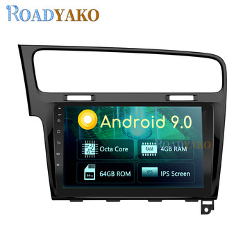 10.1'' Android Auto Car Radio Navigation GPS For Volkswagen Golf 7 2013-2019 Stereo Car Frame магнитола player Autoradio 2 Din image