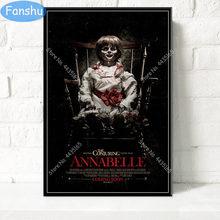 Annabelle posteri klasik film serisi sıcak korku tuval boyama posterler ve baskılar duvar sanat resmi oturma odası ev dekor için
