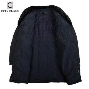 Image 3 - CITY classe affaires Parkas veste hiver manteaux chauds col en fourrure de vison amovible Super chaud nouvelle mode vestes décontractée haut