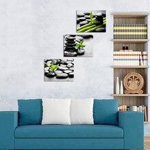 Натюрморт, холст, живопись, паубллы и бамбук, настенный художественный плакат, 3 шт., дзен-камни, HD печать, рамка, домашний декор, картина