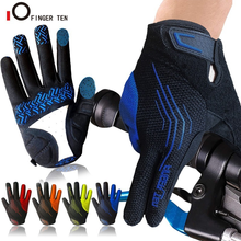 New Touchscreen Breathable Cycling Gloves Full Finger for Men Women MTB Bike Bicycle Fitness Workout Sports