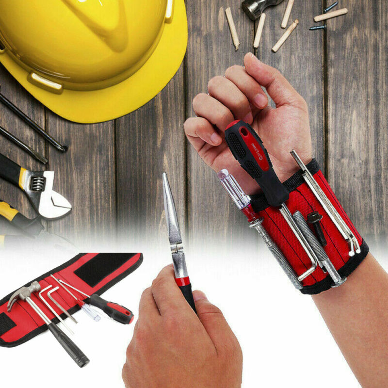 2020 HOT Wrist Support Strong Magnetic For Screw Nail Holder Wristband Band Tool Bracelet Pouch Bag Screws Drill Holder Holding