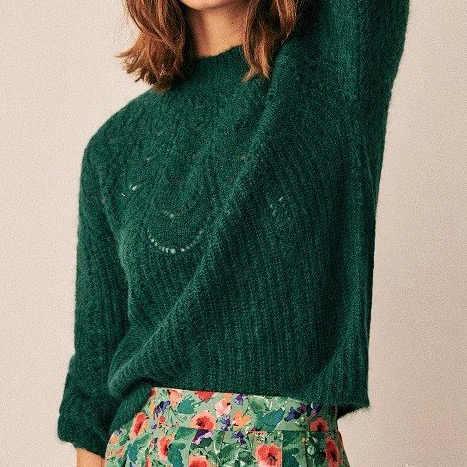 ล่าสุด 2019 ผู้หญิง Mohair และผ้าขนสัตว์ Hollow OUT JUMPER-สุภาพสตรี Stylish ถักเสื้อกันหนาว Pullover TOP