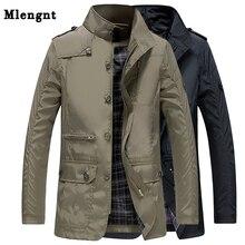 Trench Coat Long classique pour hommes, dété mince, décontracté kaki, coupe vent 2019, Streetwear, veste Baggy varity