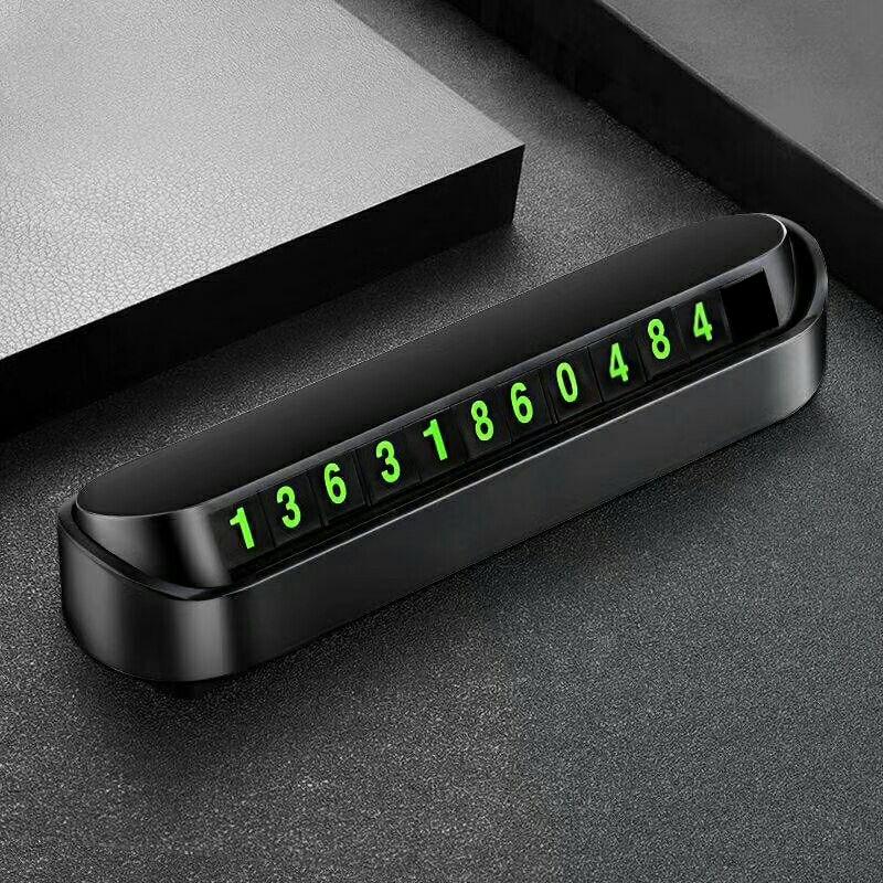 Car Styling Parcheggio Temporaneo Numero di Telefono Della Scheda Piastra della Scheda di Numero di Telefono Auto Parco di Arresto In Auto-per lo styling Accessori Per Auto