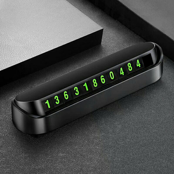 Naklejki do stylizacji samochodów tymczasowa karta parkingowa numer telefonu telefon Park zatrzymaj się w akcesoria samochodowe do BMW ford Focus tanie i dobre opinie Przednia szyba CN (pochodzenie) Numer litera 3d carbon fiber vinyl 13cm 3 5cm Words Z tworzywa sztucznego Kreatywne naklejki