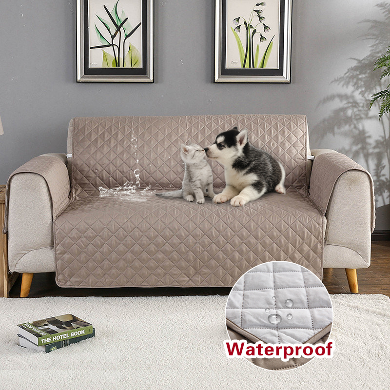 Quilted Waterproof Sofa Slip Cover Anti Slip Pet Furniture Setee Protector Throw