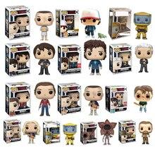 Funko figuras de acción de Stranger Things, once, Demogorgon, Dustin, Hopper, Jonathan, Joyce, Steve, Brenner, juguetes de modelos coleccionables