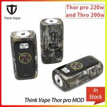 Think Vape Thor pro MOD 220 Вт и thor 200 Вт Двойной 18650 электронная сигарета мод VW/TC/Bypass режимы TFT экран 510 поток vape мод