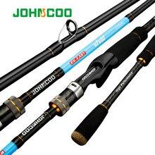Johncoo vívido ul/l/ml haste de fiação ponta sólida 2.1m 1.92m haste de truta ação rápida haste de carbono para luz jigging vara de pesca poleiro