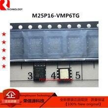 M25P16-VMP6TG 25p16v6g m25p16 25p16 16 mbit, baixa tensão, memória flash de série com relação de ônibus spi 50 mhz 100% novo original