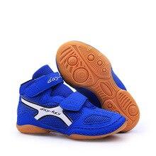 Уличная борцовская обувь для детей, детские высокие боксерские кроссовки для мальчиков и девочек, дышащие Спортивные кроссовки D0882