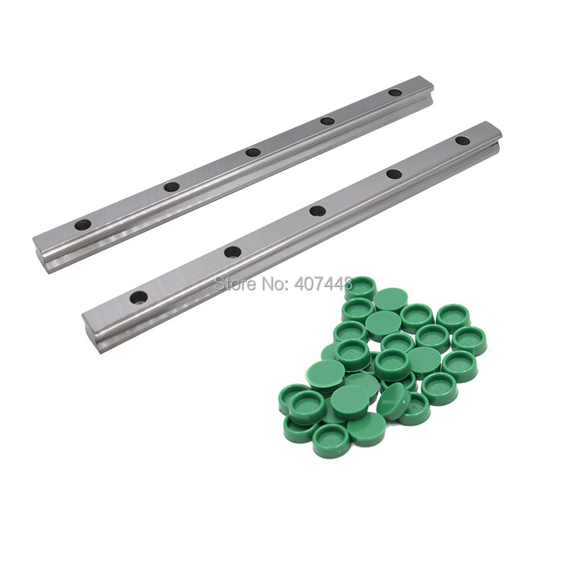 2pc 100 -1150mm HGR15 HGR20 HGR25 HGR30 Square Linear Guide Rail for HIWIN Slide Block Carriages HGH20CA CNC Router Engraving(China)