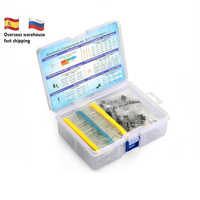 Electronic Component Kit Total 1390 Pcs LED Diodes 30 Values Resistors 12 Kinds Electrolytic Capacitor Pack TO-92 Transistor Box