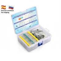 Elektronische Komponente Kit Insgesamt 1390 Pcs LED Dioden 30 Werte Widerstände 12 Arten Elektrolytkondensator Pack ZU-92 Transistor box