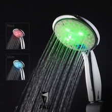 3 ColorsChange WaterPowered Led Temperature Sensitive Digital Display Handheld Bathroom Shower Head Showerhead Water Spray