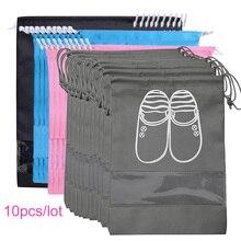 Органайзер для шкафа, Нетканая сумка для хранения обуви, переносная сумка для путешествий, водонепроницаемая сумка с карманом для одежды, сумка для хранения 10 шт