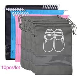 Shoes Storage Bag Closet Organizer Non-woven Travel Portable Bag Waterproof Pocket Clothing Classified Hanging Bag 10pcs