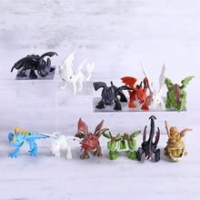 How To Train Your Dragon The Hidden World Toothless Night Fury Mini PVC Figures Toys Dolls 12pcs/set