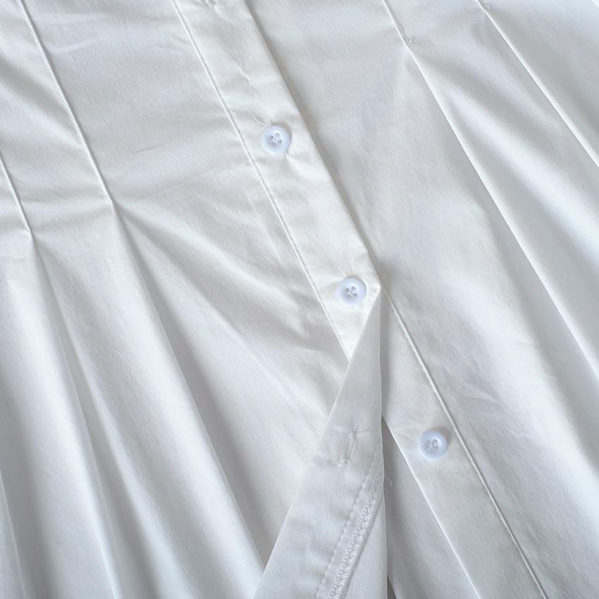 decote quadrado, branco, sexy, túnica, plissado, plus tamanho do tamanho