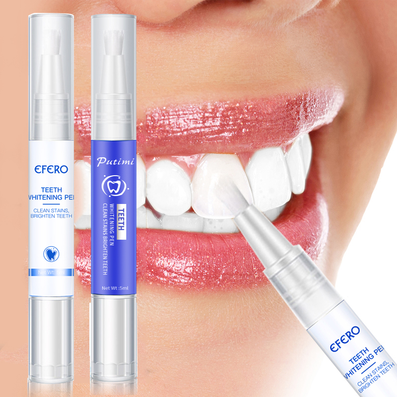 EFERO Teeth Whitening Pen Cleaning Serum Remove Plaque Stains Dental Oral Hygiene Tooth Tools Teeth Whitenning Pen Toothpaste