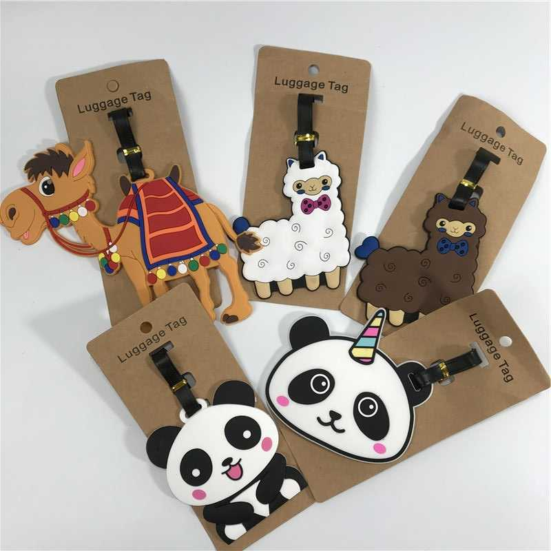 Travel Accessories Panda Luggage Tag Animal Cartoon Silica Gel Suitcase ID Addres Holder Baggage Boarding Bag Portable Label