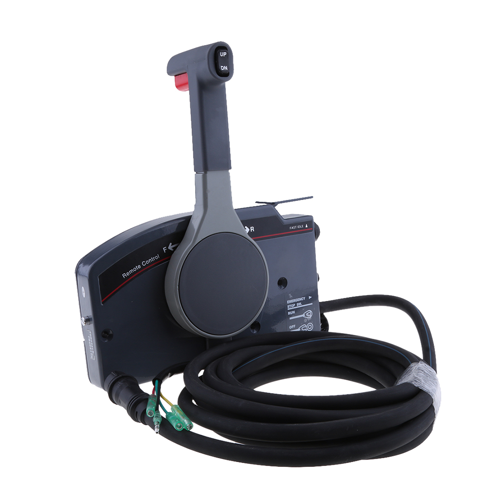 Boat Motor 703-48205-16-00 Side Mount Remote Control Throttle Shift Box for Yamaha Outboard Engine 10 Pins, Right Hand