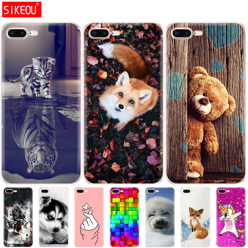 Silicon Phone <font><b>Case</b></font> For <font><b>iphone</b></font> <font><b>7</b></font> 8 <font><b>Case</b></font> Soft TPU Back Cover For Apple <font><b>iPhone</b></font> <font><b>7</b></font> 8 plus etui bumper transparent protective coque image