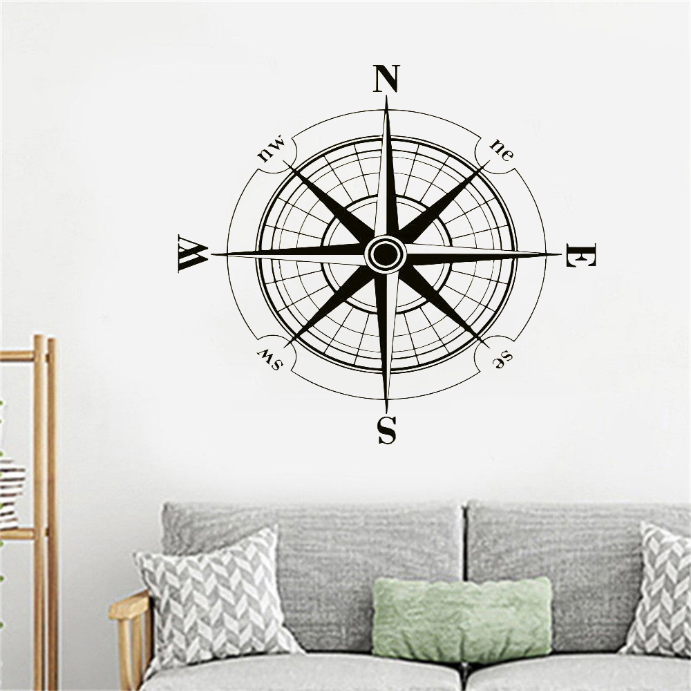 Compass Rose Vinyl Wall Sticker
